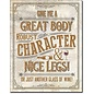 """Novelty  Metal Tin Sign 12.5""""Wx16""""H Another Glass of Wine Novelty Tin Sign"""