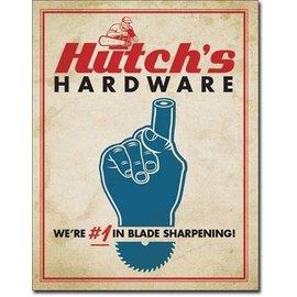 "Novelty  Metal Tin Sign 12.5""Wx16""H Hutch's Hardware Novelty Tin Sign"