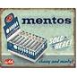 """Novelty  Metal Tin Sign 12.5""""Wx16""""H Mentos - Sold Here Novelty Tin Sign"""