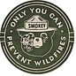 """Novelty  Metal Tin Sign 12.5""""Wx16""""H Smokey Bear Round Novelty Tin Sign"""