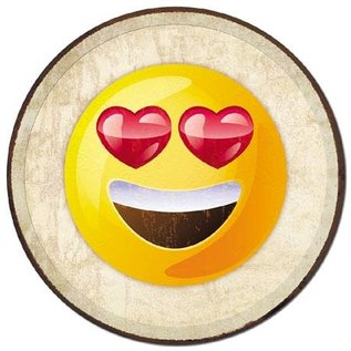 "Novelty  Metal Tin Sign 12.5""Wx16""H Emoji - Eyes Novelty Tin Sign"