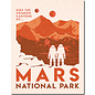 """Novelty  Metal Tin Sign 12.5""""Wx16""""H Mars National Park Novelty Tin Sign"""