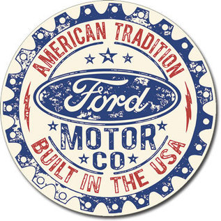 """Novelty  Metal Tin Sign 12.5""""Wx16""""H FORD - Built in USA Novelty Tin Sign"""