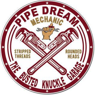"Novelty  Metal Tin Sign 12.5""Wx16""H BKG - Pipe Dream Garage Novelty Tin Sign"