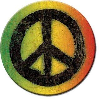 Rocket Fizz Lancaster's Magnet: Rasta Peace Sign Round