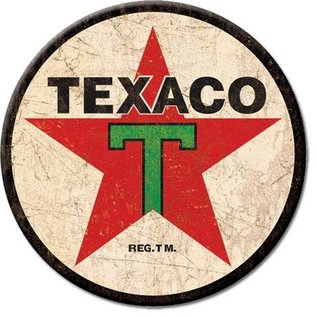 Rocket Fizz Lancaster's Magnet: Texaco '36 Logo Round