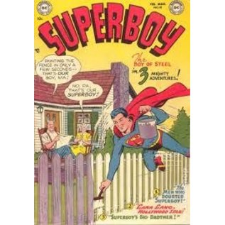 "Novelty  Metal Tin Sign 12.5""Wx16""H Comic Print - Superboy #18 February 1952 Novelty Tin Sign"