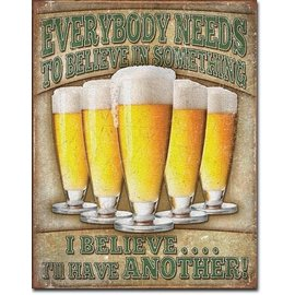"""Novelty  Metal Tin Sign 12.5""""Wx16""""H I'll Have Another Novelty Tin Sign"""