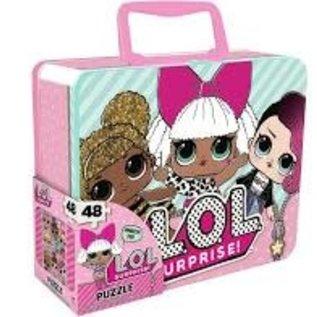 Rocket Fizz Lancaster's LOL Surprise Dolls Puzzle in 3d Tin Suitcase Lunchbox