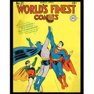 "Novelty  Metal Tin Sign 12.5""Wx16""H Comic Print - Worlds Finest Novelty Tin Sign"