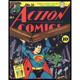 """Novelty  Metal Tin Sign 12.5""""Wx16""""H Comic Print - Action Comics Novelty Tin Sign"""