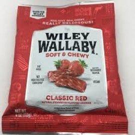 Rocket Fizz Lancaster's Wiley Wallaby Liquorice Peg Bag Red 4 oz