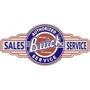"""Novelty  Metal Tin Sign 12.5""""Wx16""""H Buick Service Novelty Tin Sign"""