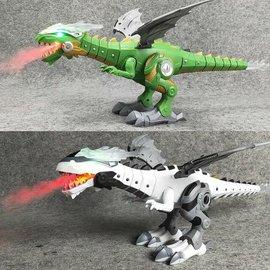 Toys of Rocket Fizz Lancaster Walking Dragon Toy Fire Breathing Water Spray Dinosaur Weezishop Christmas Gift