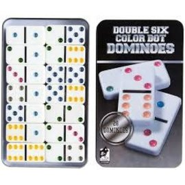 Toysmith Double Six Color Dot DOMINOES