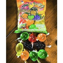 Jelly Fruit Challenge : Din Don Candy. One bag contain 9Jelly Packs