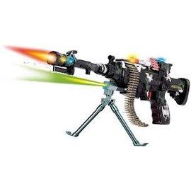 Toys of Rocket Fizz Lancaster Super Flashing Challenger Machine Gun w/Sound Toy