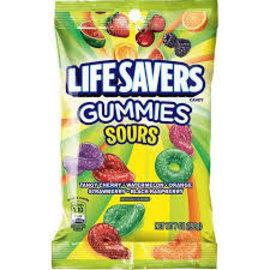 Lifesaver Gummies Sour Peg Bag