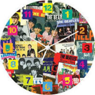 Rocket Fizz Lancaster's The Beatles Singles Collection 13.5 Wood Wall Clock