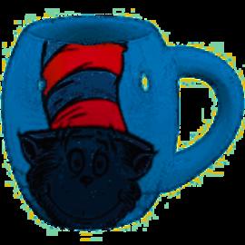 Vandor Dr Seuss Cat In The Hat 18 oz. Oval Ceramic Mug
