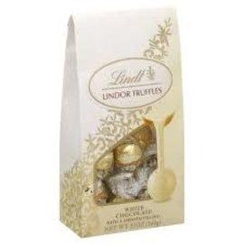 www.RocketFizzLancasterCA.com Lindt Lindor Truffles, White Chocolate 5.1oz