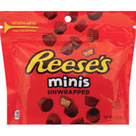 Hershey Chocolate USA Reese's Peanut Butter Cups, Milk Chocolate, Minis, Unwrapped