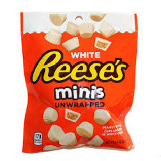 MARS Wrigley Hershey (1) Bag Reese's White Minis Unwrapped Peanut Butter Cups - White Creme - Holiday Candy - Net Wt. 2.4 oz Roll over image to zoom in Hershey (1) Bag Reese's White Minis Unwrapped Peanut Butter Cups - White Creme - Holiday Candy - Net Wt. 2