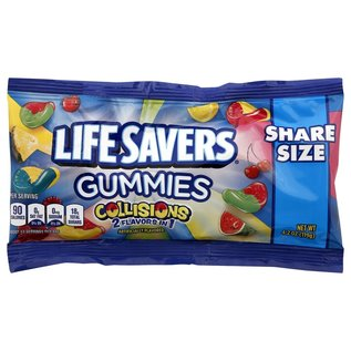 Life Savers Share Size Collision Gummies - 4.2oz MSRP: $1.79 DPCI: 055-09-0669 UPC: 022000014634 View barcode BrickSeek Snapshot View on Target Local Alerts Share Share this page on Facebook Share this page on Twitter Sharable link https://brickseek.com/