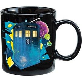 Vandor Doctor Who S11 Tardis Blue & Black 12 oz. Heat Reactive Ceramic Mug