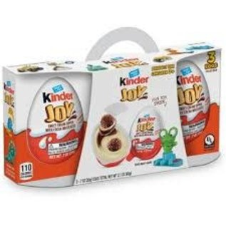 Rocket Fizz Lancaster's Kinder Joy Sweet Cream Topped with Cocoa Wafer Bites Chocolate Treat + Toy - 3ct