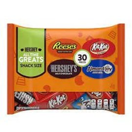 MARS Wrigley Hershey's & Reese's & Almond Joy & Kit Kat, Chocolate Candy Assortment Snack Size 30 pieces, 15.92 oz