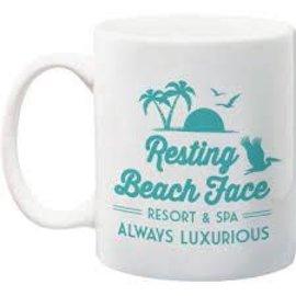 NMR Distribution Resting Beach Face Mug