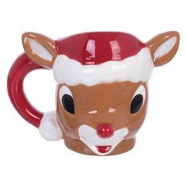 Rocket Fizz Lancaster's Rudolph The Red-Nosed Reindeer 14 oz. Sculpted Ceramic mug
