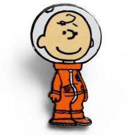 NMR Distribution Charlie Brown Space Enamel Pin