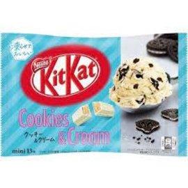 Asian Food Grocer Kit Kat - Cookies and Cream Ice Cream Flavor