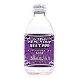 LA Bottle Works Original NY Seltzer Concr Grape