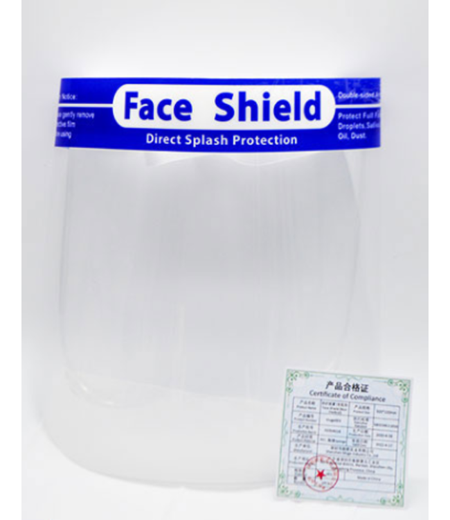 Certified Face Shield – Direct Splash Protection - PE