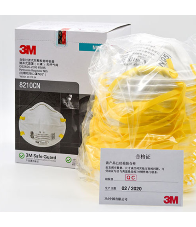 3M-N95-8210 CN-(1 box-20pc) - PE