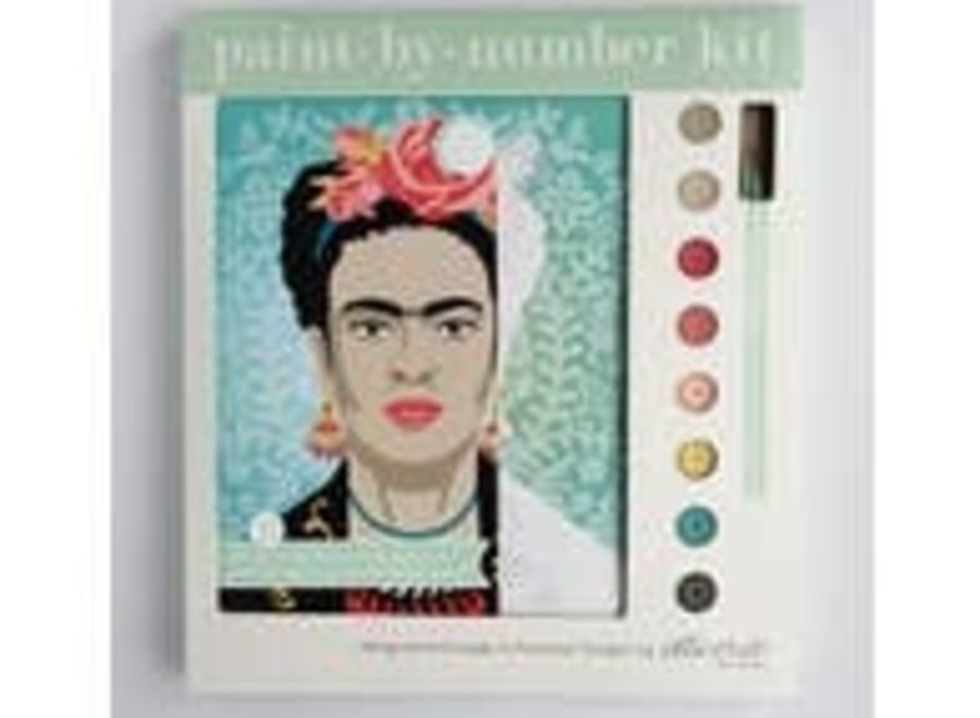Turquoise Frida with Flowers Paint By Number (fuw)