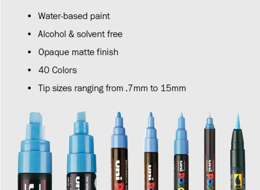 POSCA MARKER, PC-5 SET - Medium, Basic 16 Colors