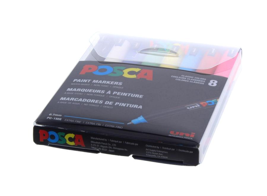POSCA PC-1MR XFINE SET/8 BASIC