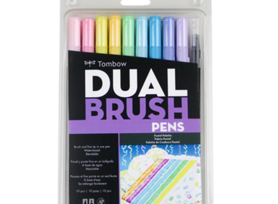 TOMBOW DUAL BRUSH PEN SET - 10 Pens, Pastel