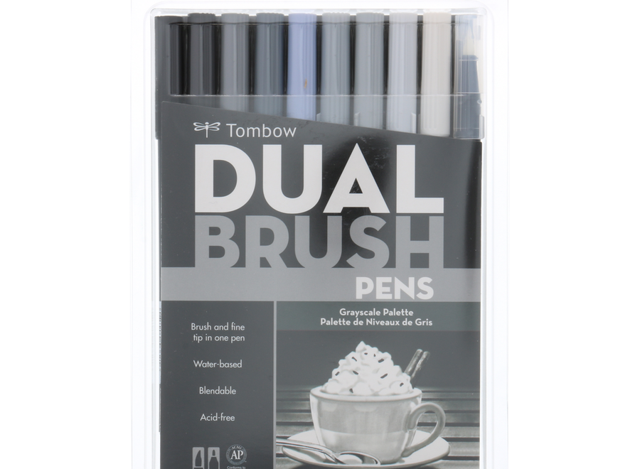 ABT DUAL BRUSH SET 10/GRAY SCAL