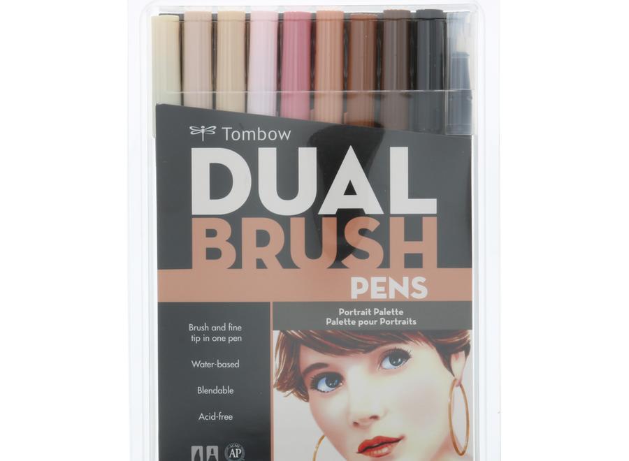 TOMBOW DUAL BRUSH PEN SET - 10 Pens, Portrait