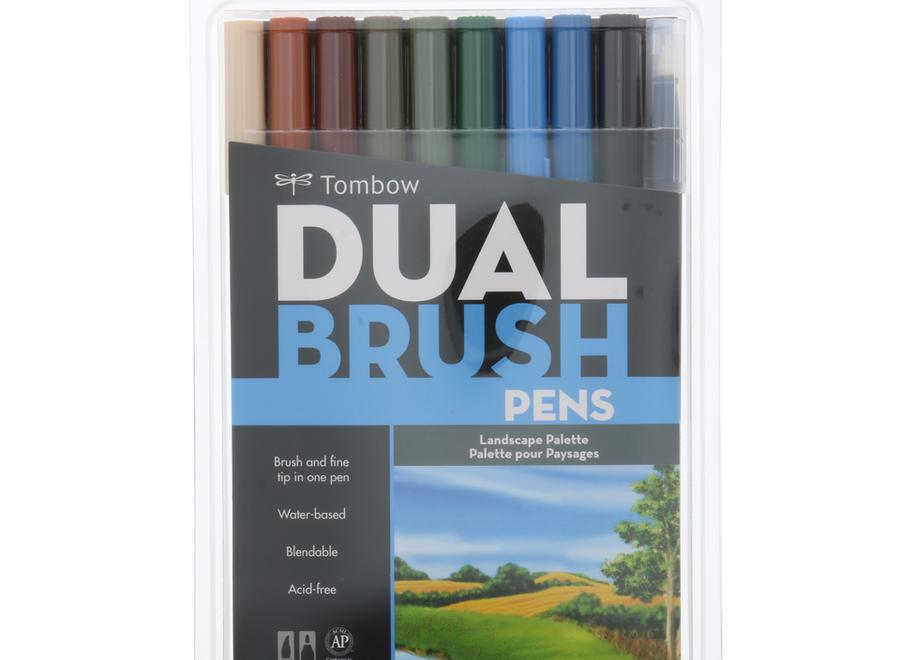 TOMBOW DUAL BRUSH PEN SET - 10 Pens, Landscape