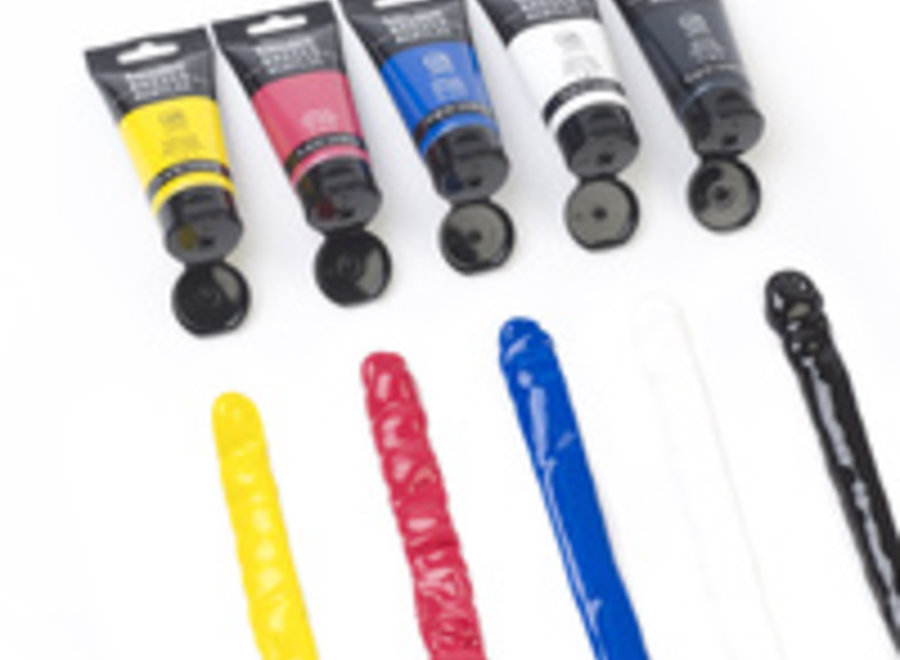 BASICS ACRYLIC COLORS 4 oz TUBES