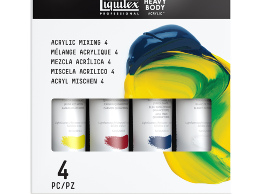 LIQUITEX PRIMARY COLOR MIXING SET 4 HB