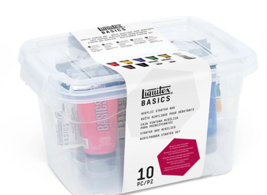 BASICS ACRYLIC STARTER BOX SET - 16 Pieces Includes 9 - .75ml Tubes