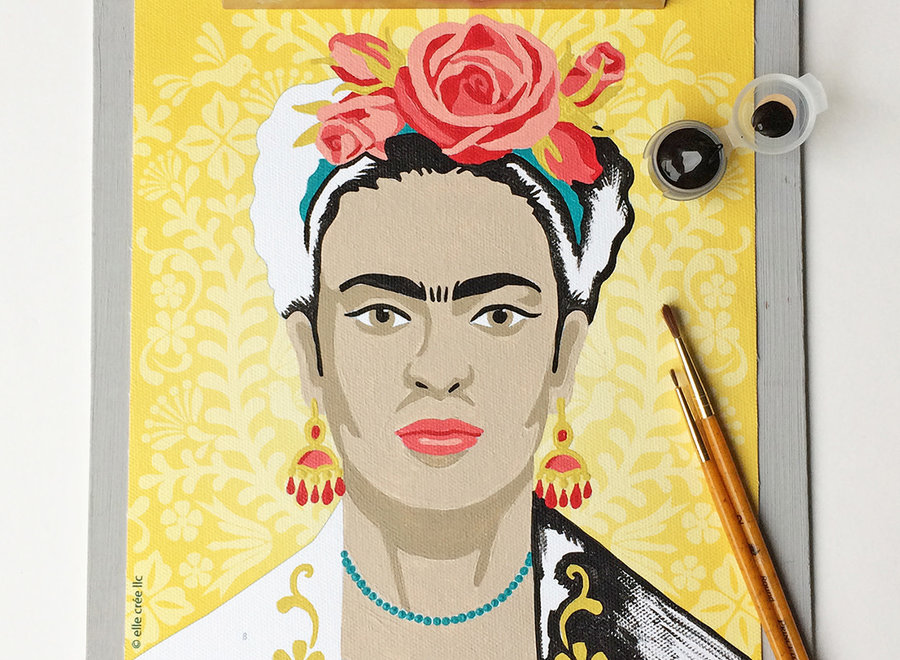 Yellow Frida Paint-by-Number Kit