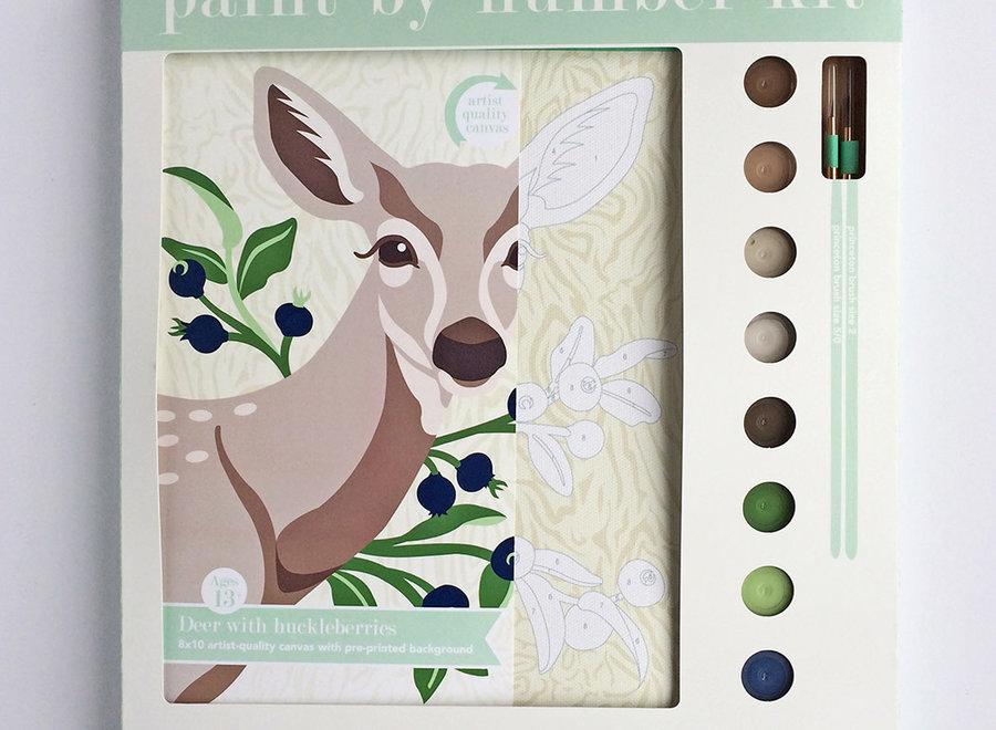 Deer wtih Huckleberries Paint-by-Number Kit